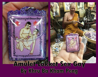 Thai Amulet Lokket Gay Charm Love + Oil Strong Power Spell By Kruba Kham Peng