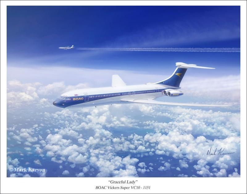 "Mark Karvon /""Graceful Lady/"" BOAC Vickers Super VC10"