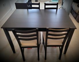 IKEA Lerhamn set of table & 4 chairs