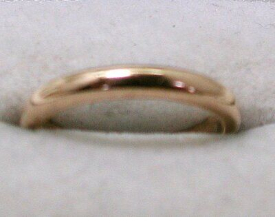 1940s Jewelry Styles and History 1940's Vintage Plain  Narrow 9 carat Gold Wedding Ring Size K $180.48 AT vintagedancer.com