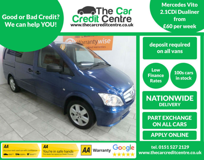 2012 Mercedes-Benz Vito 2.1CDi (113bhp) Dualiner ***BUY FOR ONLY £60 PER WEEK***