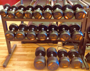 VO3 Pro Style Rubber Dumbbell Set