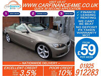 2008 BMW 325i 3.0 SE CONVERTIBLE GOOD / BAD CREDIT CAR FINANCE FROM 59 P/WK