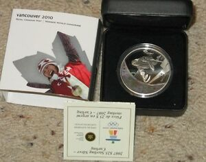 2007 $25 Sterling Silver Curling Olympic Coin in case Regina Regina Area image 1