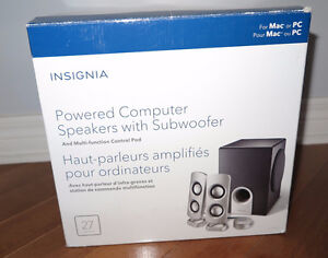 Insignia 2.1 Speaker System NS-PSD5321-C Haut-parleurs
