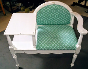 Side table, end table, telephone table, shabby chic, vintage