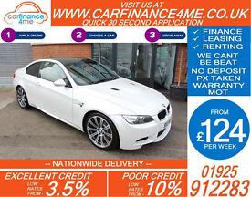 2011 BMW M3 4.0L SEMI AUTO GOOD / BAD CREDIT CAR FINANCE FROM 124 P/WK