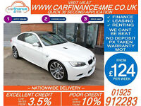 2011 BMW M3 4.0L SEMI AUTO GOOD / BAD CREDIT CAR FINANCE FROM 124 P/WK
