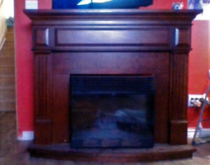 fireplace mantel 44x56x16in good shape a few scratches.