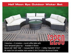 All Outdoor Resin Wicker Sets 25% Discount End of Season Sale!!!
