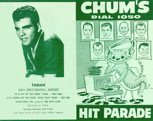 Buying CHUM HIT PARADE CHARTS from radio station 1050 CHUM Kitchener / Waterloo Kitchener Area image 4