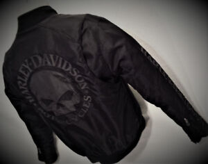 Manteau HARLEY Homme SMALL Nylon coupe-vent SKULL 80$ VPS