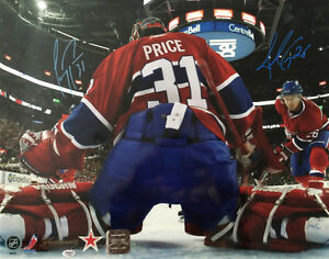Carey Price/Josh Gorges Autographed Montreal Canadiens 16x20