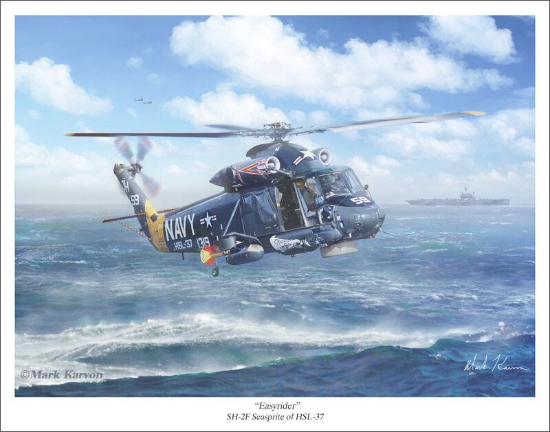 """SH-2F Seasprite Art Print 11"""" x 14"""""""