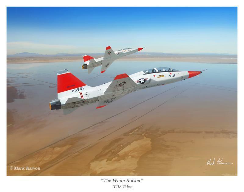 "XB-70 Valkyrie /""Riding the Shockwave/"" Mark Karvon"