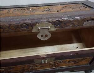 Oriental Chinese Carved Camphor Wood Storage Chest Trunk Surry Hills Inner Sydney Preview