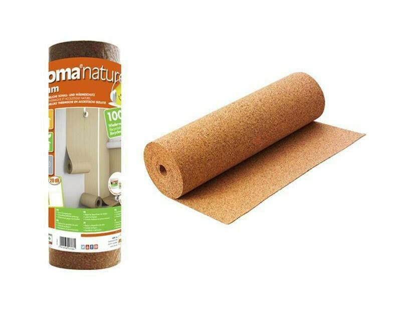 Kork  10 mm für Holz-Parkett und Laminat  TOP QUALITÄT 10m² Trittschalldämmung