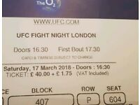 Ufc fight night london ticket