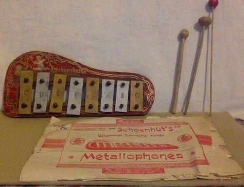 Vintage Metallophone Xylophone. With Original Instructions. Schoenhut