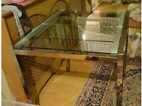 Extending Glass & Chrome Dining Table FREE DELIVERY (03534)