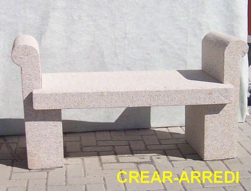OFFERTA!! Panchina da giardino in pietra granito L130cm OFFERTA!!