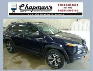 2016 Jeep Cherokee Trailhawk, Leather, Sunroof, Navigation