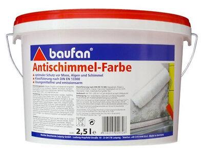Baufan  Anti Schimmel Farbe 2,5l Wandfarbe Deckenfarbe innen