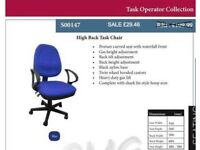 Operator Task Computer Compact Office Chair Open in Lockdown for Collection Bulk Quantity Discounts
