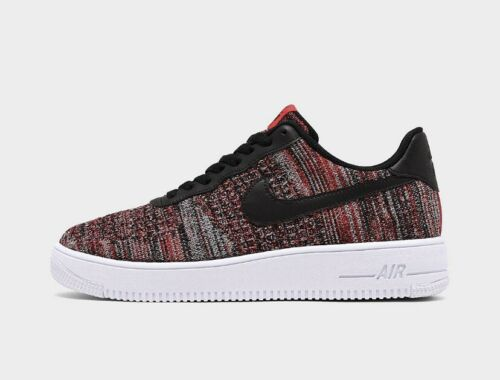 Nike Air Force 1 Flyknit 2.0 Men's Trainers Red Black White