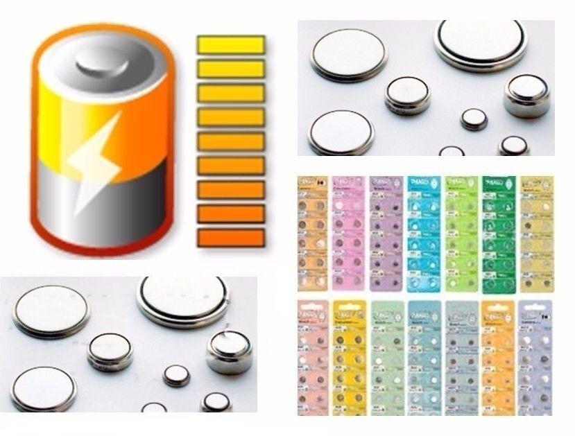10x Knopfzelle Knopfzellen Uhrenbatterie Batterie Batterien AG0- AG4 AG10 - AG13