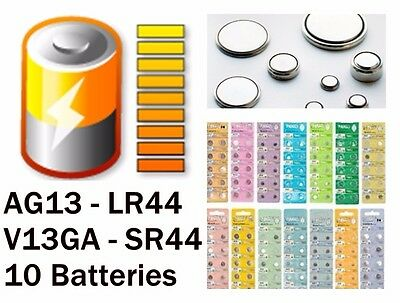 AG13 LR44 Knopfbatterien Battery LED 1.55V Knopfzelle Batterie 11.6*5.40mm b4