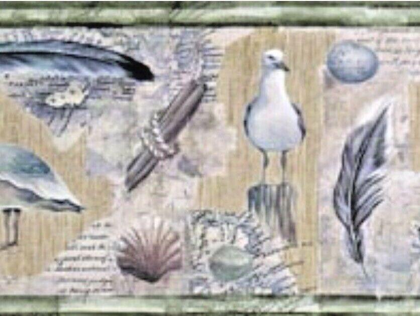 "Vintage Village Wallpaper Border Pattern #5803458 - 9"" Wid"