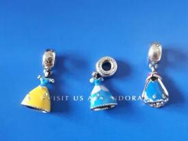 Pandora Disney princess dress charms