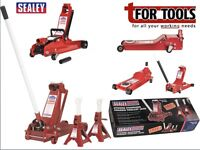 Sealey Trolley Jack Range and deals 3010cx low entry free Axle Stands Rocket lift low entry