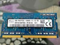 4Gb DDR3 1600mhz Laptop memory ram