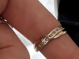 9ct gold diamond ring