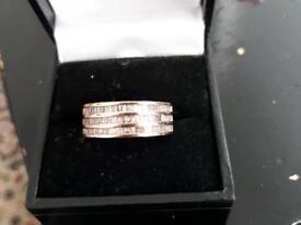 14ct/ 14k gold diamond ring