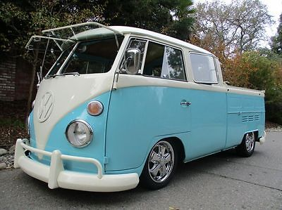 1967 Volkswagen Bus/Vanagon Double Cab Porsche 2.0L Disc Brakes  Crew Crewcab doublecab Safari Window Windows Kombi Split 914 VW 21 23 1966 1965