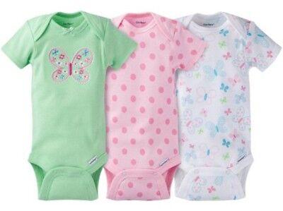 Baby Girl Showers (GERBER BABY GIRL Onesies Bodysuits Variety 3-Pack Baby Shower Gift -)