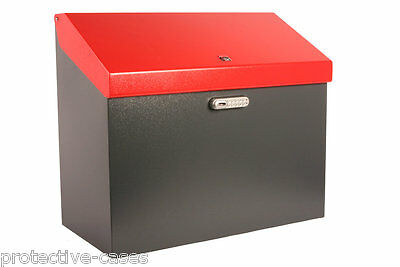 iBin Grande Parcel Delivery Box  /  iBin Postal Courier Box - Colour Grey-Red