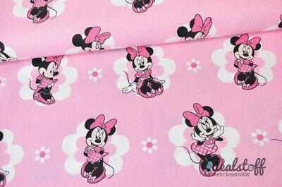 BaumwolleWebware Minnie Mouse rosa A360