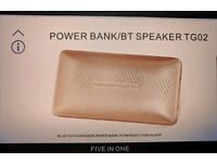 Power bank TG02 wireless bluetooth stereo speaker.