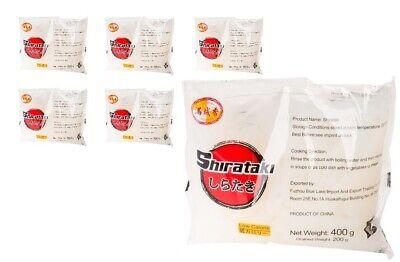 6x Konjak Shirataki Noodles a 400g/200g kalorinarme breite Band-Nudeln Low Carb