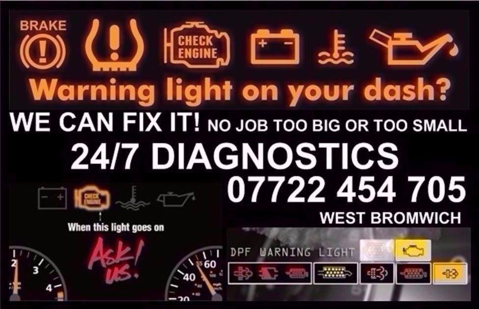 ull Car Diagnostic Lights on mobile Dashboard Dpf Egr Limp