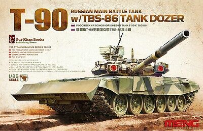 Meng Model 1/35 TS-014 Russian MBT T-90 w/TBS-86 Tank Dozer for sale  Shipping to Canada