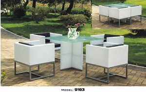 Patio Dining Set 9183 Aluminum Frame/2 Colors Avail.