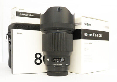 "# Sigma Art 85mm F/1.4 HSM DG Lens For Canon ""Mint"" S/N 51997837"