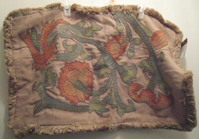 NEW 1 Pottery Barn Fringe Floral Pillow Cover 16 x 26 inches NWT