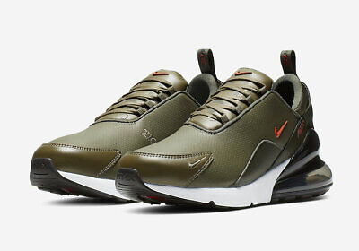 Mens Nike Air Max 270 Premium Leather Olive Athletic Fashion Sneakers BQ6171 200 ()