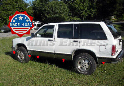 1991-1994 Chevy S-10 Blazer 4Dr/Compact SUV Chrome Rocker Panel Trim 8Pc